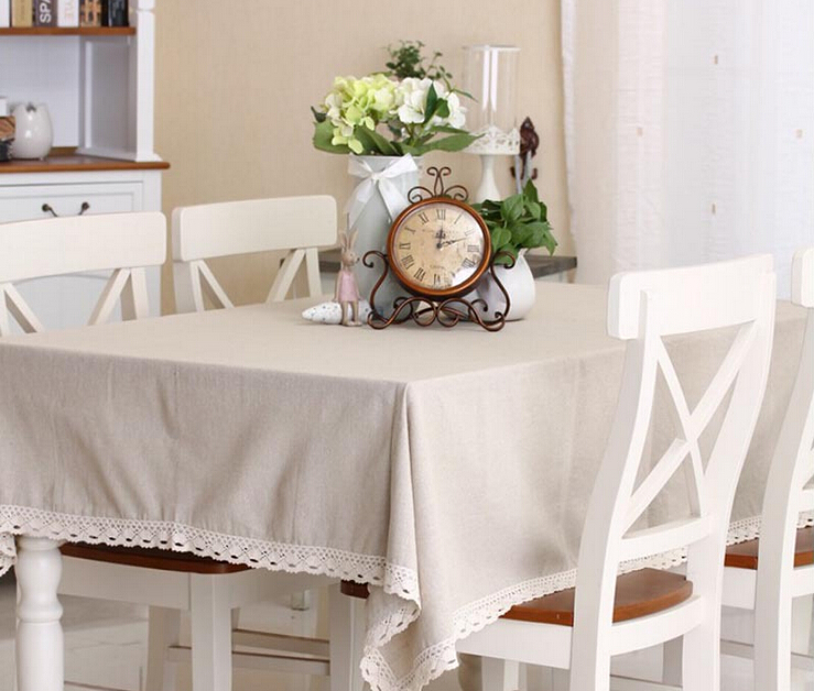 Simple Nature Solid Square Tablecloth Vintage White Lace Table Cloth Rectangle Round Tablecloths Pastral Style For Home(China (Mainland))