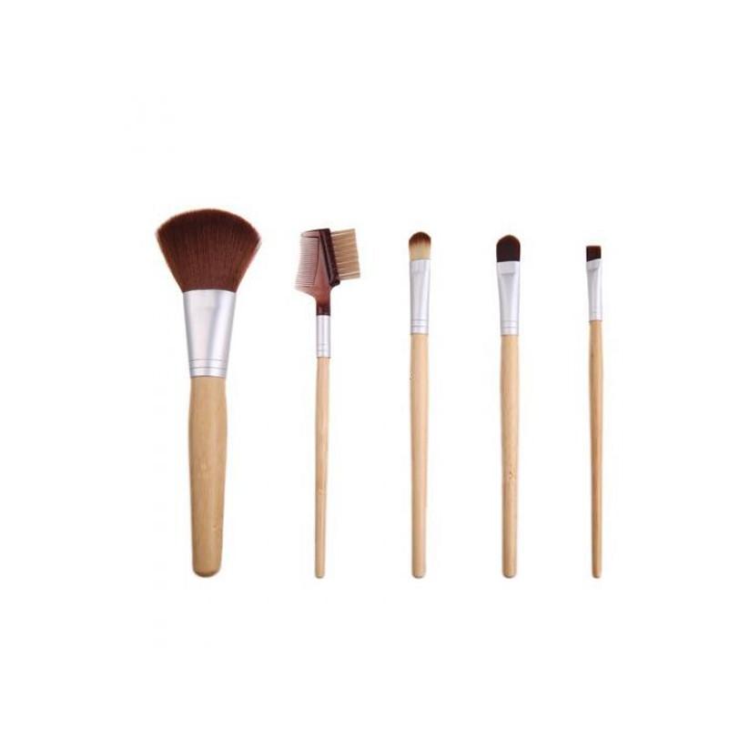 5Pcs Bamboo Makeup Brush Set Eyeliner Eyeshadow Powder Concealer Blending Makeup Brushes Facial Cosmetic Beauty Brush Tools(China (Mainland))