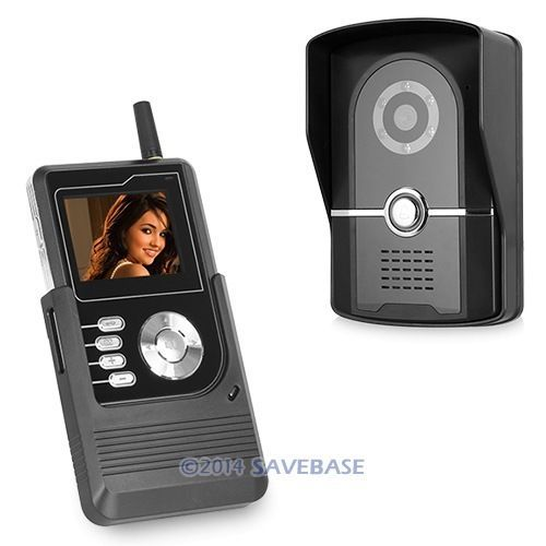 HOMSECUR New 2.4GHz Wireless Door Phone Intercom System Photo Taking Video Record Key Fobs(China (Mainland))