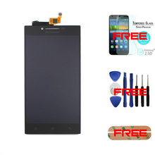 """Black- 100% Original For Lenovo P70 5.0"""" LCD Display + Touch Screen Digitizer Replacement Panel +Tempered glass+Tools+Sticker"""