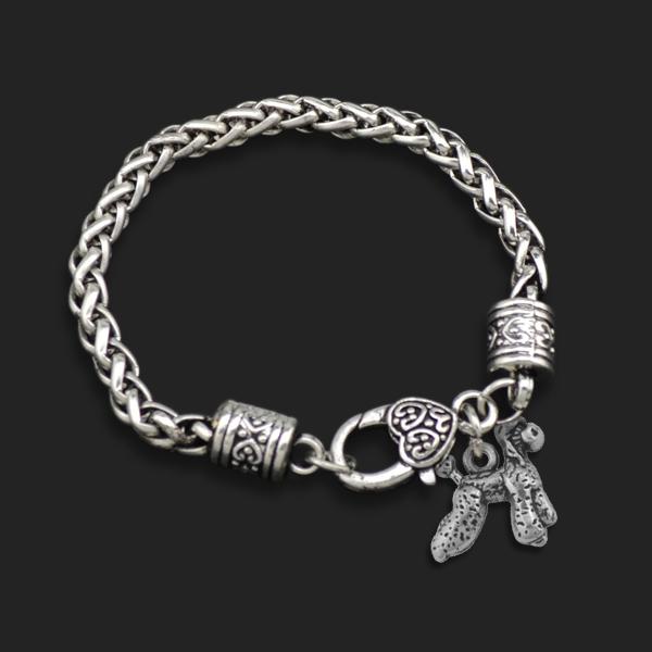 Здесь можно купить  New Dsign10pcs A Lot Zinc Alloy Metal Plating Poodle Pet Dog Animal Charm Bracelets  Ювелирные изделия и часы