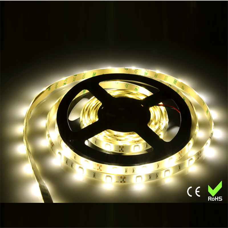 5m/roll Free shipping SMD 5050 LED softstrip Hot sale LED strip 24V DC white/ warm white color IP65 Waterproof(China (Mainland))