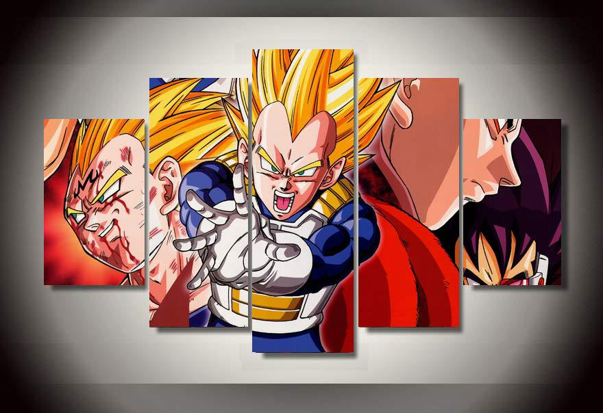 Hd printed cartoon characters painting wall art canvas for Decoration murale dragon ball z