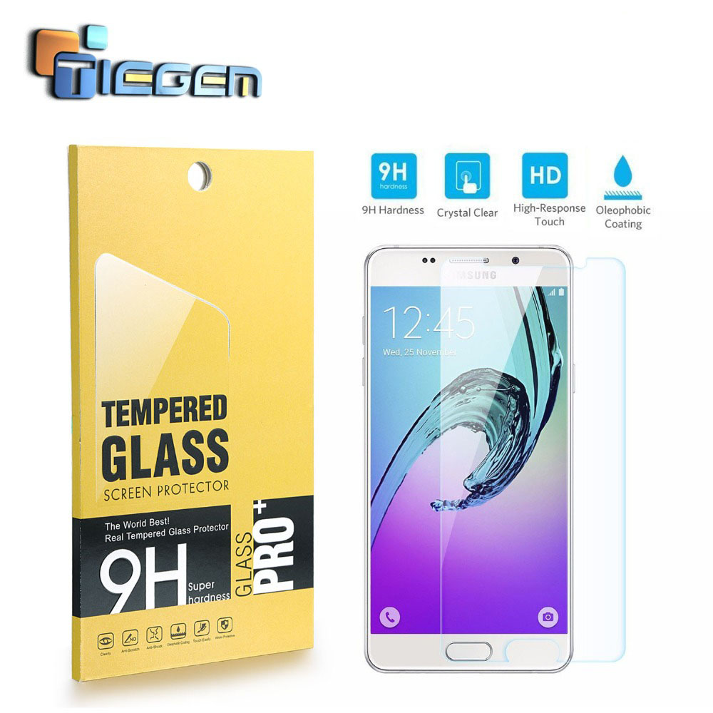 TIEGEM For A3 / A5 / A7 / A9 (2016) 0.3mm Premium Tempered Glass Screen Protector Protective Film Cover for Samsung For Galaxy(China (Mainland))