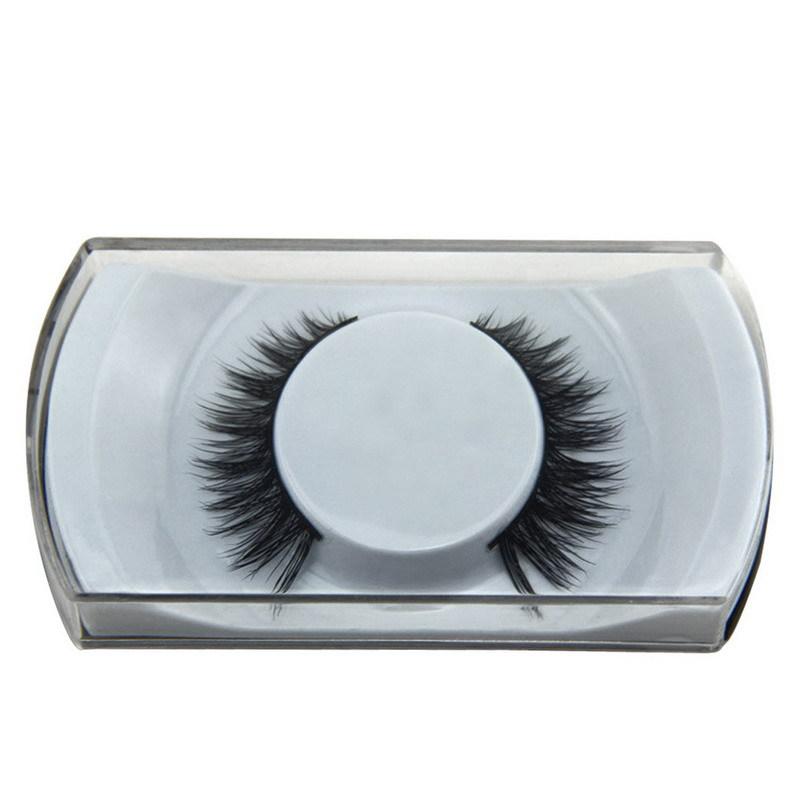 2015 NEW 3D Fashion Bushy Cross Natural False Eyelashes Mink hair Handmade Eye Lashes #BSEL(China (Mainland))