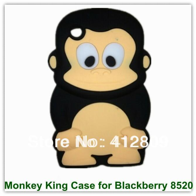 3D Monkey King Pattern Case Soft Silicon Covers for Blackberry 8520 25PCS Free Shipping(China (Mainland))