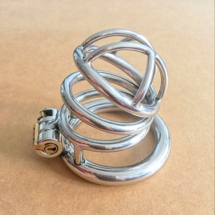 New Male chastity chastity device for stainless steel metal catheter penis lock chastity urethral penis ring chastity belt men(China (Mainland))