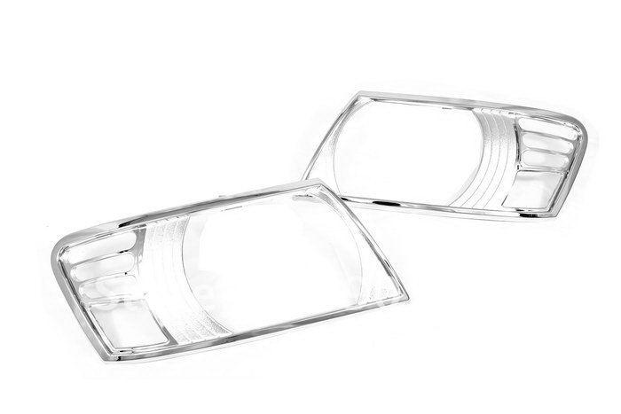 Chrome Head Light Cover - Mitsubishi Pajero / Shogun 00-05<br><br>Aliexpress