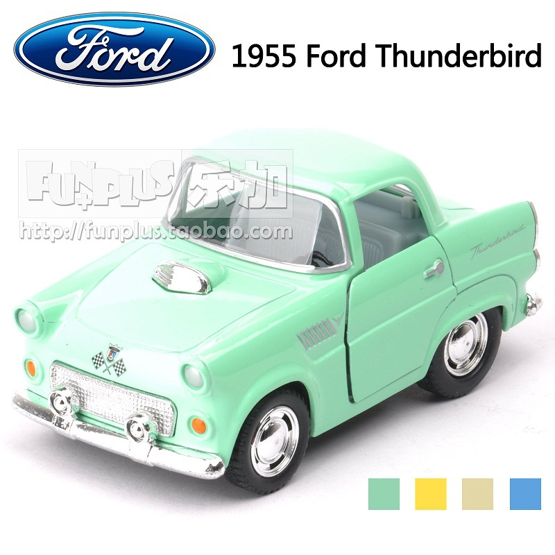 High Simulation Exquisite Model Toys KiNSMART Car Styling 1955 Ford Thunderbird Model 1:40 Alloy Sport Car Model Excellent Gifts(China (Mainland))
