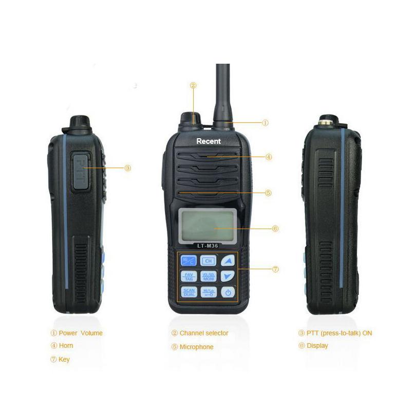 Free Shipping IP-X7 Waterproof 156-163MHZ Handheld VHF Marine Transceiver(China (Mainland))