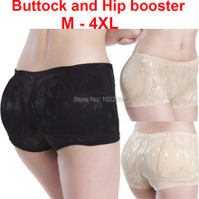M – 4XL plus size Women Lace buttock and hip booster boxer padded panty fake ass underwear Butt Lifter Booty Butt Enhancer P02
