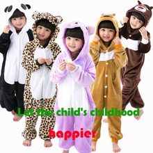 New Kids Pajamas Dinosaur Totoro Stitch Flannel Animal cosplay Onesie Sleepwear one piece Girls pyjamas Children Blanket Sleeper