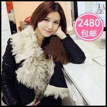 2012 fur berber fleece fur one piece short design outerwear women's