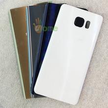 ВЫ КОМПЛЕКТ Оригинальный Новый Для Samsung Galaxy Note 5 N920 N9200 заднее Стекло Задняя Крышка Батарейного Отсека Корпуса С Клеем + Бесплатная инструменты(China (Mainland))