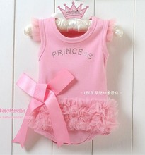Hot Sales!Nice Baby Girls Kid Bodysuit Princess Ballet Top Suit Dress One-piece 0-24Months Free Shipping(China (Mainland))