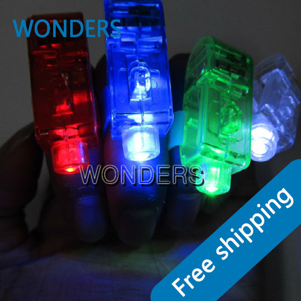 Free Shipping/Halloween,Christmas,New Year Gift, Laser finger ring,finger flashing lights,LED Laser Beam Finger light(China (Mainland))