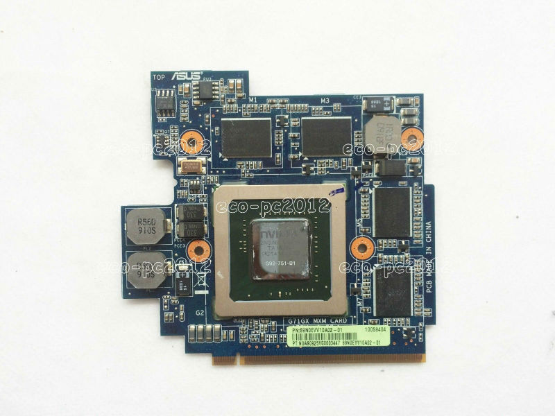 For ASUS G71GX nVIDIA GTX 260M G92-751-B1 GDDR3 1GB Video Card 69N0EVV10A02-01 fully test and free shipping(China (Mainland))
