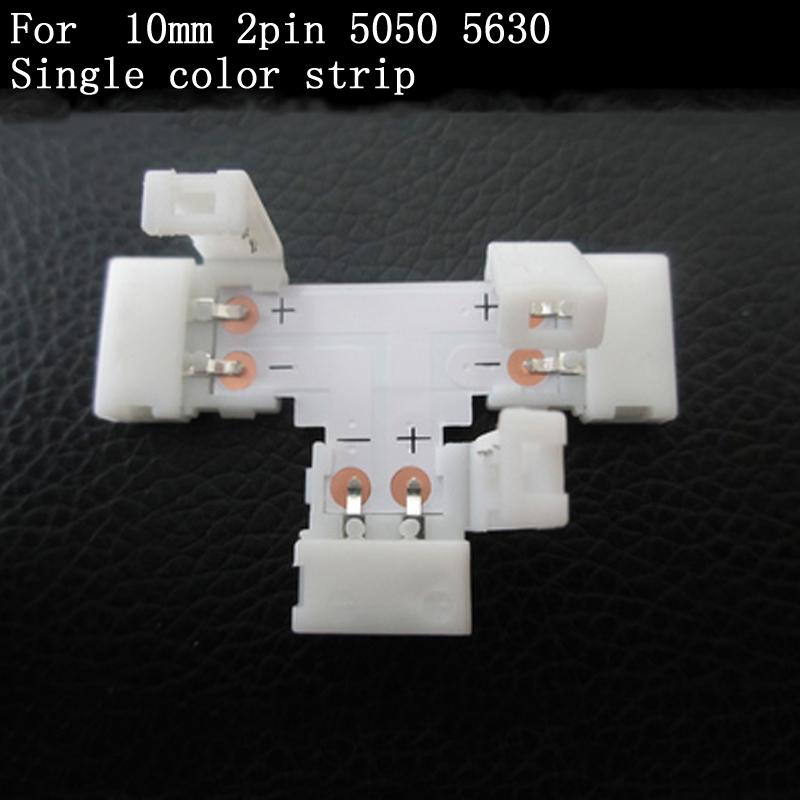 """Гаджет  5pcs/lot  """"T"""" style Led connector connection  for 5050 single colour led strip  None Свет и освещение"""