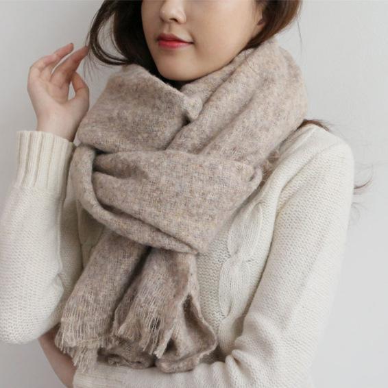 Autumn and winter new Korean style scarf pure cashmere shawl scarf Korean style nice women Pashmina