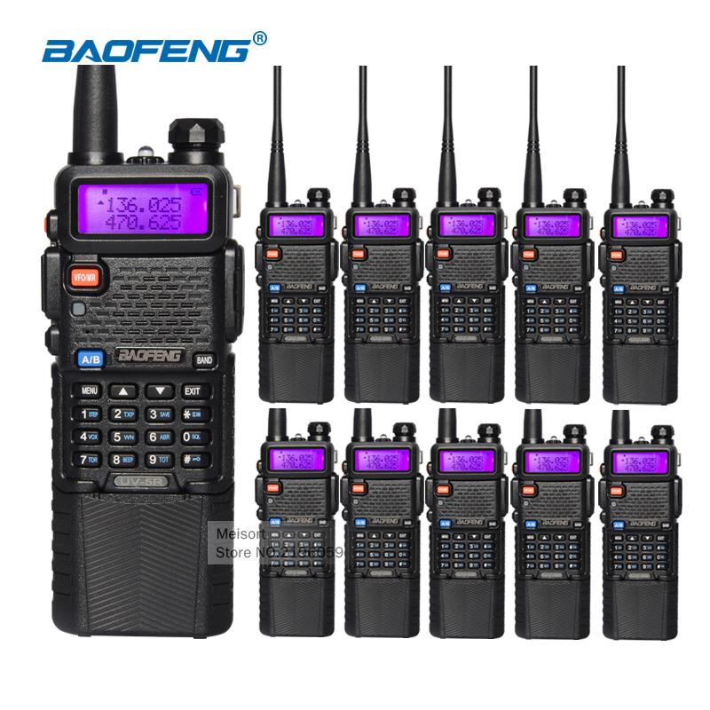 10pcs Baofeng UV-5R 3800mAh Battery Walkie Talkie Two Way Radio UV5R Baofeng VHF UHF 136-174mhz/400-520mhz FM Transceiver(China (Mainland))