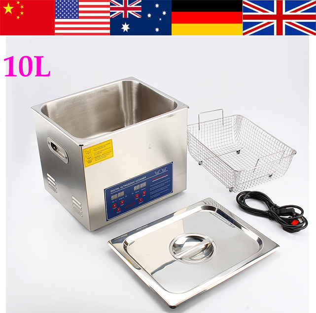 2015 New Digital Heated 10L Ultrasonic Cleaner Cleaning Machine - Fast Local Shipping(China (Mainland))