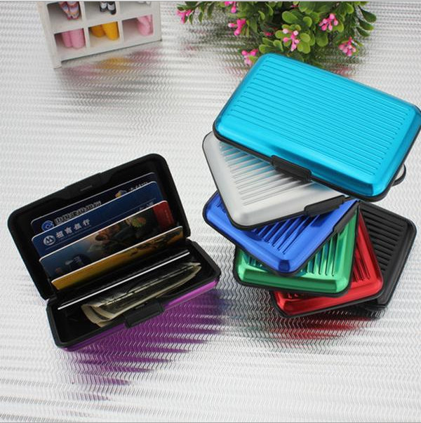 200 pcs Fashion Aluminum Metal Waterproof Box Case Business ID Credit Card Holder Wallet cardcase<br><br>Aliexpress