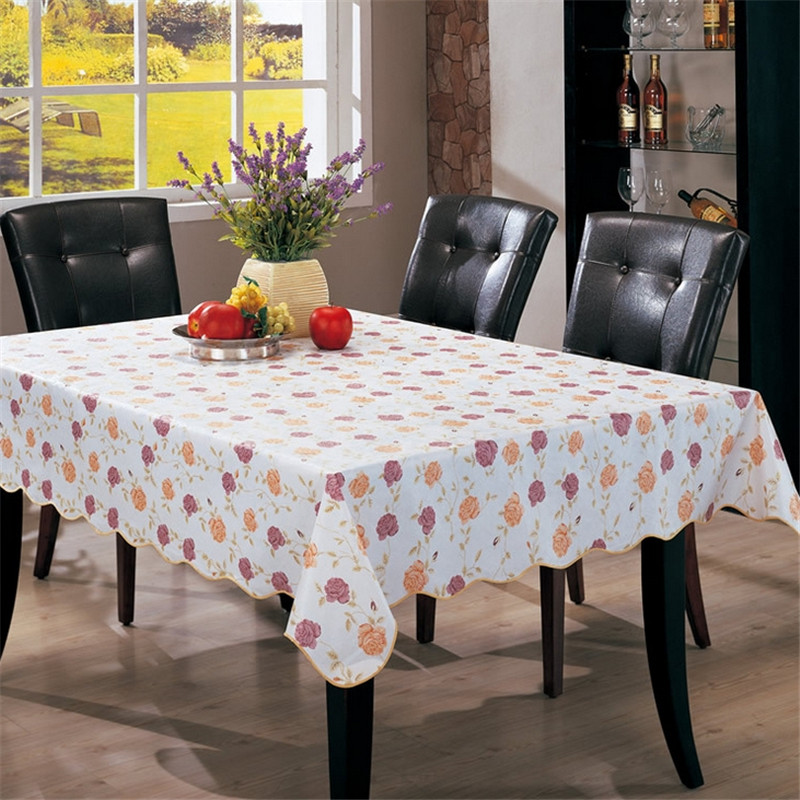 3 Sizes Waterproof Tablecloth PVC Oil Proof Party Home Nappe Thickened 25 Degrees Temperature Deformation Kitchen Dinner Tools(China (Mainland))