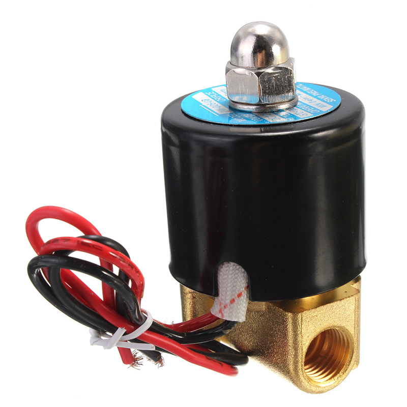 "High Quality 1/4"" Electric Solenoid Valve N/C 2-Way Normally Closed For Water Air Gas DC 12V(China (Mainland))"