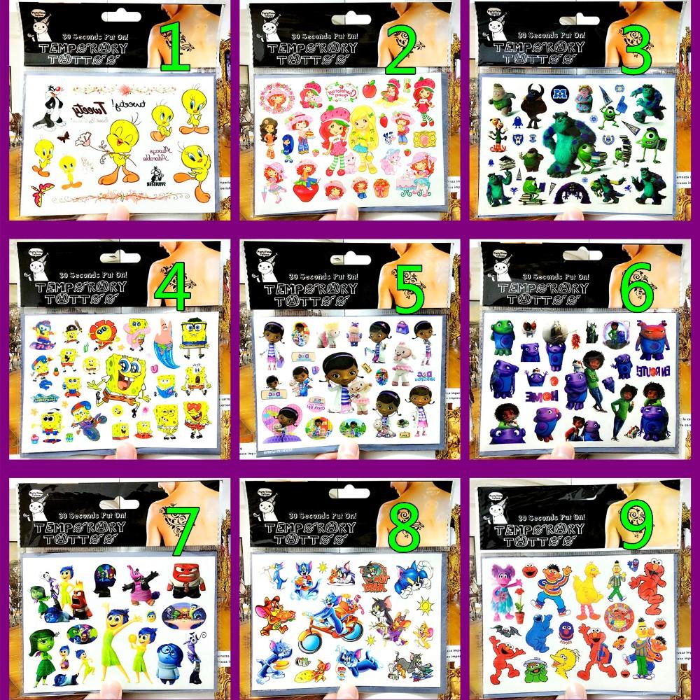 SHNAPIGN Toy Doctor Mcstuffins Child Temporary Tattoo Body Art Flash Tattoo Stickers 17*10cm Waterproof Car Styling Sticker