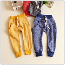 2015 new&hot kids girls pants baby boy girl high quality cotton pants spring and autumn baby trousers pants 2-7 year(China (Mainland))