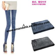 100pcs/lot Fashion Leggings for Women Jeans prints Legging Casual Leggings 2 color Black&Blue 8 types for choose(China (Mainland))