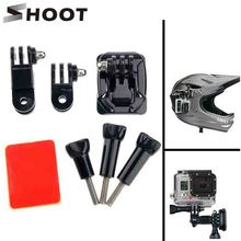 Buy SHOOT Gopro Helmet Mount Curved Base 3 Way Pivot Arm Screw Gopro Hero 5 4 3 Session Xiaomi Yi 4K SJCAM SJ4000 Accessory for $2.84 in AliExpress store