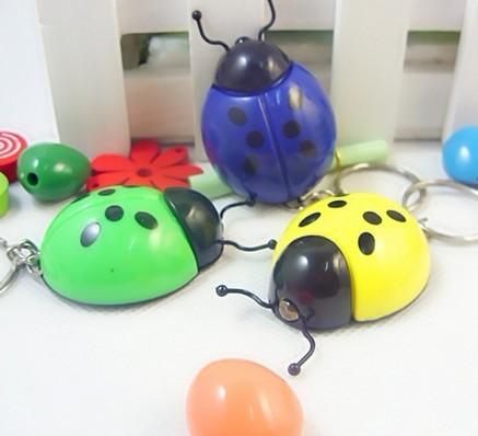 Simulation Beetle Mini  Light LED Flashlight  Key Chains Ring Keyrings Free shipping