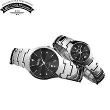 Negocios relojes para hombre y de mujer lujo Top marca moda masculina reloj del cuarzo del deporte ocasional de los pares reloj