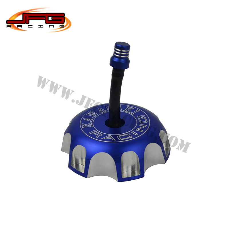 free shipping KX KLX KFX 250 250F 450F KX250 KXF250 OFFRAOD MOTOCROSS SUPERMOTO MOTORCYCLE billet cnc gas cap fuel tank cover(China (Mainland))