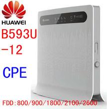 Desbloqueado HUAWEI B593 b593u-12 LTE mifi WiFi 4 G roteador em sem fio 4 G LTE dongle com Slot para cartão SIM cpe pk e5172 b880 b890