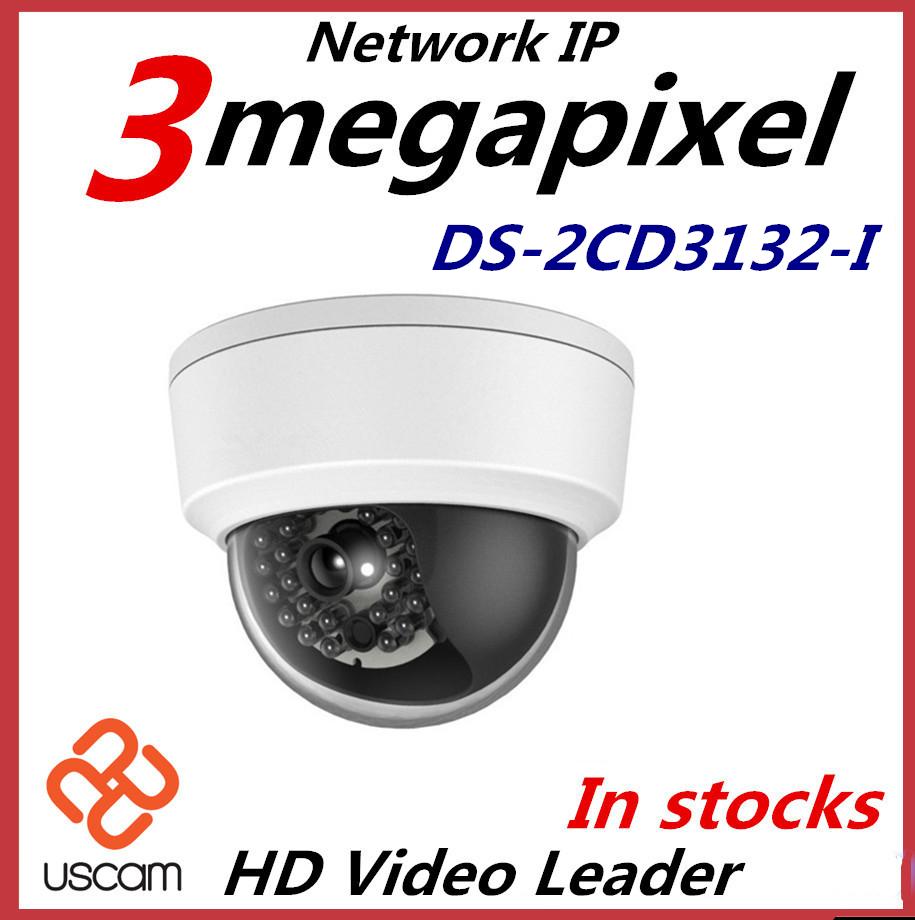 Гаджет  Hikvision IP Camera DS-2CD2132-I 3MP high resolution 1080p real time video Vandal-proof Waterproof Network Camera IR POE Camera None Безопасность и защита