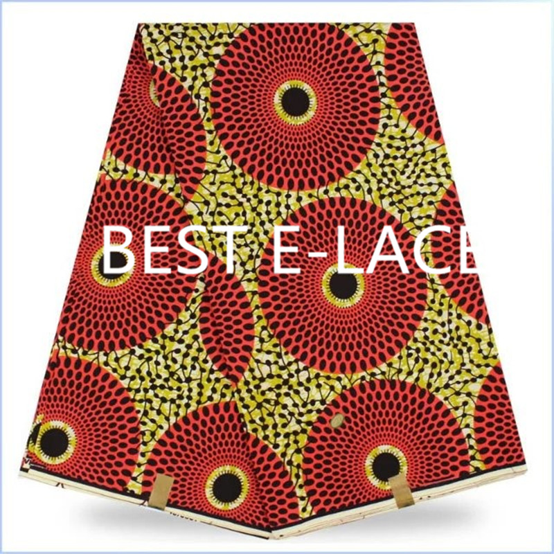1611x1511d24 2017red Nigerian girl dress african wax prints dress fabric dot pattern super wax patchwork cloth block batik dress(China (Mainland))