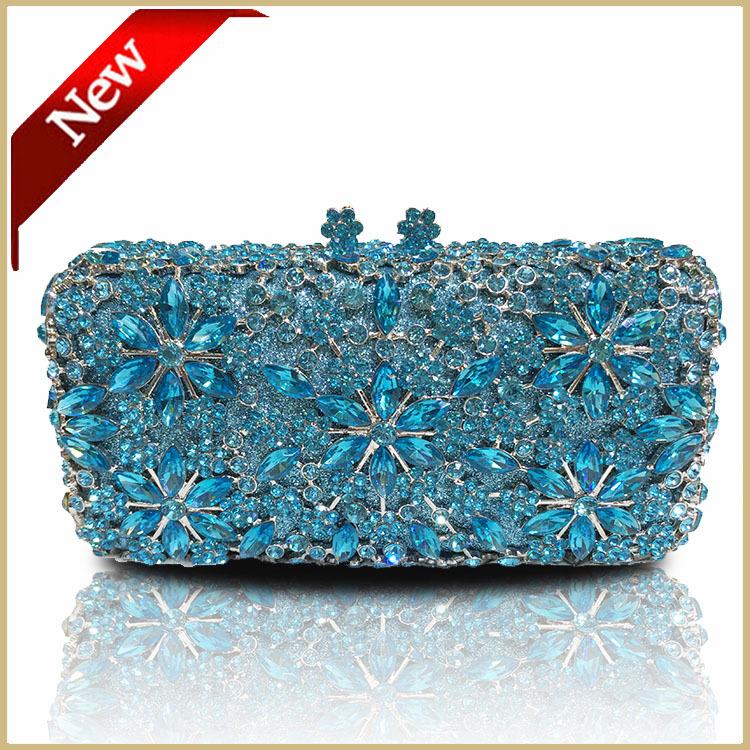 DHL Free Unique Clasp Diamantes Crystal Diamond Clutch Ceremony Bags Women Evening Bag Clutch Blue Wedding Purse<br><br>Aliexpress