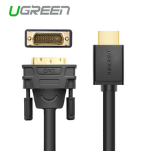 Ugreen HDMI to DVI DVI-D 24+1 pin adapter cables 3D1080p for LCD DVD HDTV XBOX PS3 free shipping High speed hdmi cable 2m 3m 5m(China (Mainland))