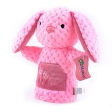 Metoo Dolls Plush Baby Developmental Toys Bear Bunny Hand Puppet Gifts Kids Children Birthday Gifts 12*8'' New #LNF(China (Mainland))