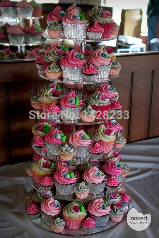 cooking tools/6 tier acrylic cupcake stand, clear cupcake stand, cupcake display(China (Mainland))