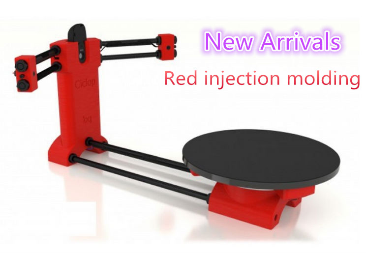 Ciclop 3d scanner DIY kit, NEW red injection molding,Reprap 3d Open source Portable 3d scanner for 3d printer(China (Mainland))