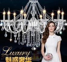 100 export crystal 10 arms crystal chandeliers light d78 h58cm transparent e14 candle glass lamp lustre de cristal decoration candle decorative modern pendant lamp