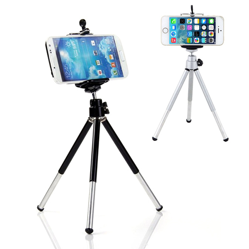 Mini 360 degree Rotatable Stand Tripod Mount + Phone Holder For iPhone Samsung HTC  6NEB<br><br>Aliexpress