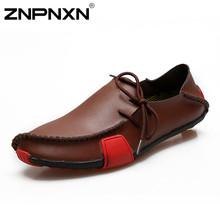 Znpnxn mode appartements chaussures hommes mocassins en cuir véritable occasionnels chaussures hommes appartements Oxford chaussures pour hommes mocassin de conduite chaussures homme(China (Mainland))