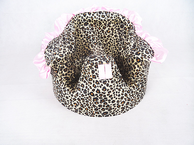 Free Shipping Brown Leopard With Pink Ruffle Bumbo Seat Cover Chair Cover(China (Mainland))