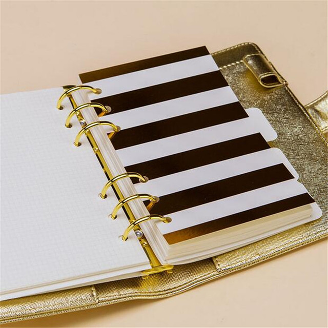 Golden Print Planner Dividers
