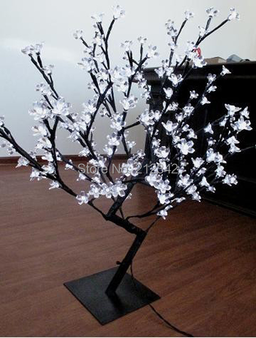 "Artificial LED Bonsai Cherry Blossom Tree Light Holiday Lighting Indoor Christmas Light 160 LEDs 0.8m/31.5"" White Free Shipping(China (Mainland))"