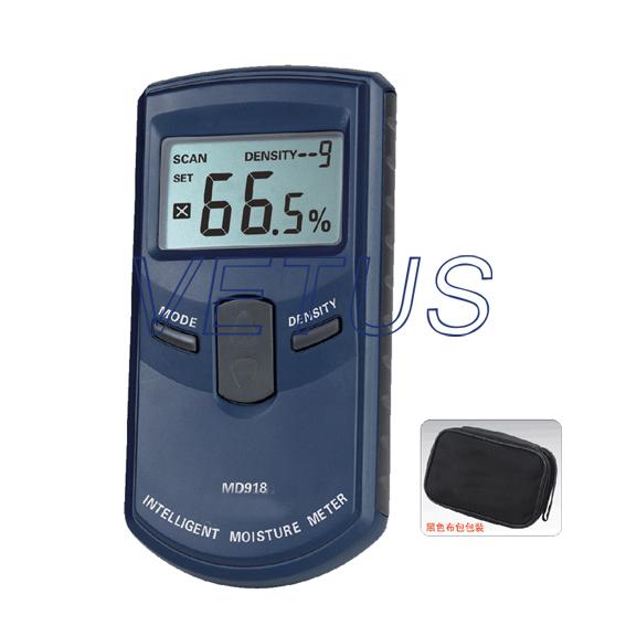 Inductive Digital Wood Moisture Meter MD918 4%~80% Resolution: 0.5%